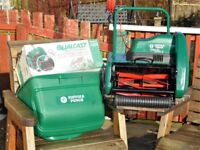 Suffolk Punch Electric Lawnmower and Scarifier, excellent condition, serviced regularly