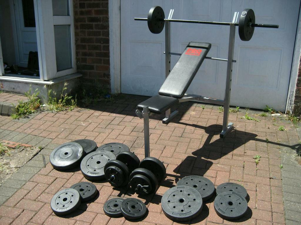 Excellent Free Weights Barbell Dumbells And Incline Bench In Great Barr West Midlands Gumtree Creativecarmelina Interior Chair Design Creativecarmelinacom