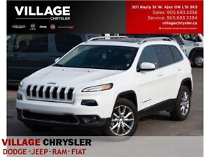 2017 Jeep Cherokee Limited|4x4|Nav|Leather|Sunroof|Vent Seats|Re