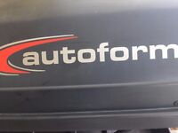*LARGE AUTOFORM ROOF BOX IN BLACK* (7ft x 3ft) Great condition.
