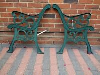 Vintage cast iron bench ends for project