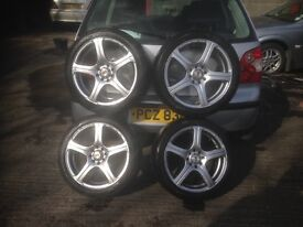 17 inch VAUXHALL ALLOY WHEELS AND TYRES MULTIFIT.