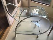 Vintage Art Deco Trolley Chrome/Glass/Enamel Fins Gordon Moorabool Area Preview