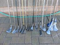Job Lot of 18 Right handed golf clubs