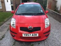 TOYOTA YARIS 1.3 VVT-I SR 5 DOOR RED *1 OWNER FROM NEW* *TOYOTA HISTORY* *A/C*