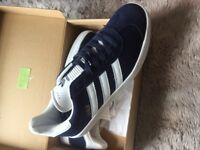 Navy blue Adidas gazelles brand new boxed 8