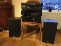 Amplifier Tuner CD Player Cassette Deck & Speakers For Sale