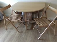 BUTTERFLY FOLDING TABLE + 4 CHAIRS