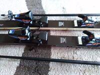 Dynastar dual action ski's and poles
