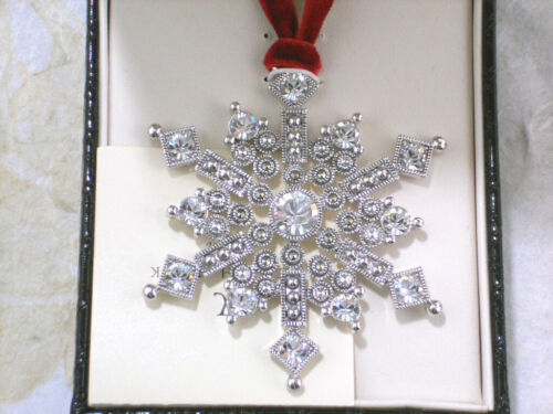 Lovely JUDITH JACK Snowflake Pendant Ornament 2005 NEW in Box Marcasite Crystals