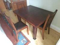 Restored Oak dining table and 4 chairs
