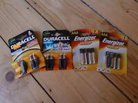 AAA Energizer Ultra + & Duracell Batteries