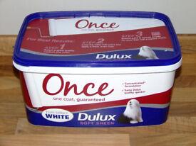Dulux Once One Coat Emulsion Soft Sheen Brilliant White Paint - 4.5L