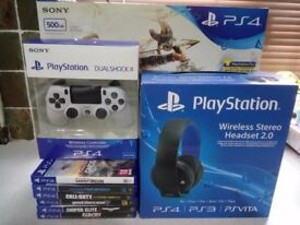 Playstation 4 slim 500gb and accessories