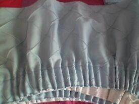 lined duck egg blue curtains for sale ,plus pelmets