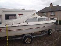 Quayline Q16 cabin boat 1992.