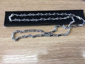 """Sterling Silver 32"""" chain valued at £500"""