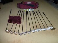 Golf set complete with bag, balls and trolley. Little used and in very good condition.