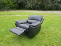 Black Leather Full Recliner Chair