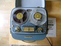 1950s vintage Grundig TK20 reel to reel tape recorder w/original paperwork