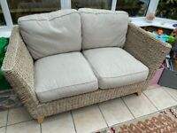 Two Matching M&S Bermuda Two Seat Sofas For A Conservatory/Lounge