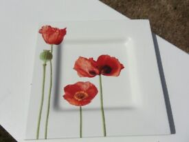 Ceramic Poppy Plate