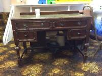 Antique old office desk