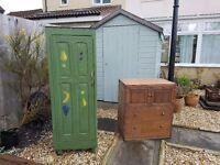 from church sale a wonderful Stunning Antique rustic Oak wardrobe & chest-draws