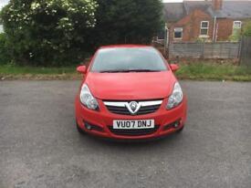 Vauxhall corsa 1.2 ,sxi ,16V ,3Door ,2007 ,petrol