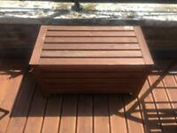 Outdoor wooden storage and bench