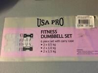 set of fitness dumbbells USA fitness