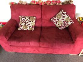 red sofa £20