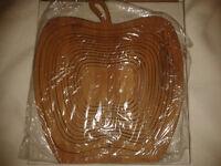 Wooden Apple Mat