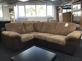 Brand new corner sofa on sale brown jumbo cord