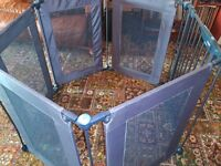 Safe Metal Playpen 3in1 Fire Guard Room Divider