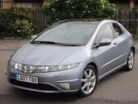 2007 (07 reg), Honda Civic 2.2 i CTDi EX 5dr, LEATHER SEATS, SAT NAV