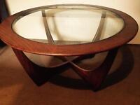 Vintage 1950's teak Astro table