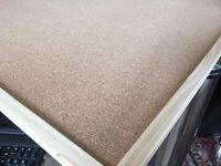 Large Cork Board with Wooden Frame - Size: 90 x 120 CM