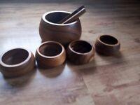 Denby wooden salad set