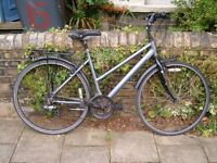 Unisex Dawes Discovery 301 hybrid town bike for a tall person