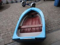 8ft Fibreglass Halecraft Rowing Boat/Punt/Tender