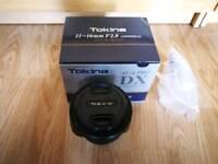 Tokina 11-16mm f2.8 AT-X PRO DX II AF Lens - Nikon Fit Super wide angle