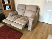 DFS 3 piece suite \ sofa - rise and recline - as new