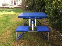 Blue Picnic Table & Bench Set £20.00