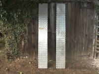 PAIR OF 6FT HEAVY DUTY STEEL CAR RAMPS FOR TRAILER ETC...