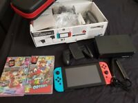 Nintendo Switch + 2 Games, Carry Case with original receipt