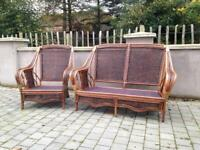 Wicker conservatory furniture seats