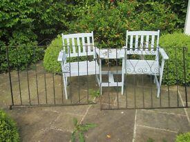 Pair of Vintage Retro Metal Garden Gates