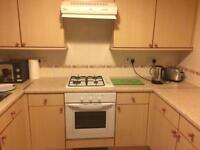 Wood effect kitchen units, worktops & appliances