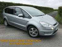 2010 FORD SMAX 1.8 TDCI 115 BHP ZETEC FINANCE AVAILABLE MAY PART EX CHEAP CAR FULL YEARS MOT
